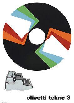 #so65 #olivetti designed by Giovanni Pintori for the Olivetti Tekne 3 - 1964