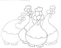 gallinas draw, galinha, aplicacion, mold, apliqu, applique chicken, applique patterns, risco, hens