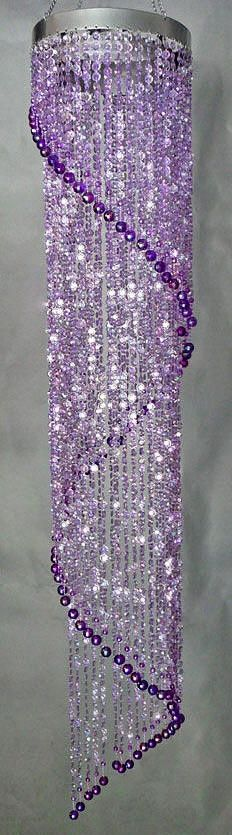 decor, purpl light, color, chandeliers, purple rooms, purpl passionhaz, purpl chandeli, thing, purple chandelier