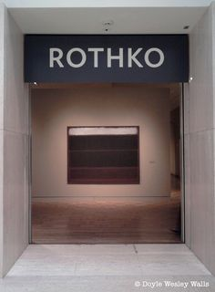 Entrance to the Rothko Exhibit at Portland Art Museum.