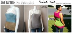 One Pattern with Three Different Looks- The Seaside Tank-  FREE crochet pattern by Cre8tion Crochet