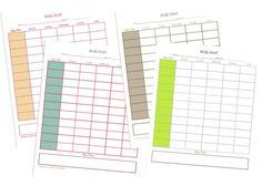 Weekly Homeschool Planner Printables