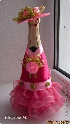Украсить шампанское на день рождения своими руками 20