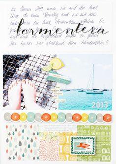#papercraft #scrapbook #layout  formentera 2013 by mojosanti at @Studio_Calico