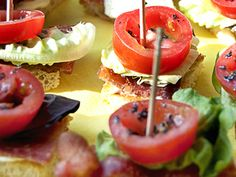 BLT Bites! Maybe the best appetizer idea ever!