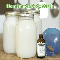 Homemade Body Wash   Read HERE >> http://www.livinggreenandfrugally.com/homemade-body-wash/