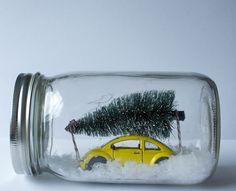 DIY : Winter Scene Mason Jars