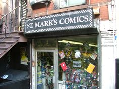 St. Mark's Comics – East Village, NYC  #nyc #nycshopping #comicbooks #eastvillage #stmarkscomics