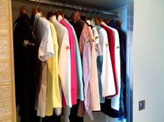 hotel closet, outfit, suitcas