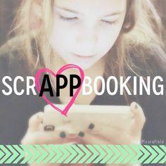 ScrAPPbooking: 12 Useful Scrapbooking Apps scrapbook desk, layout idea, scrappbook, phone review, scrapbook app, scrapbooking projects, smart phone, desk layout, review blog