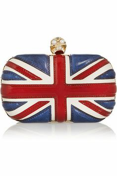 Princess-Worthy Gifts For the Kate Middleton Fan: Alexander McQueen union jack clutch ($1,695)