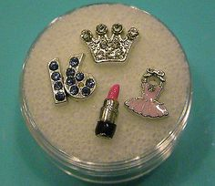 Origami Owl Charms set lot locket FASHION DIVA lipstick crown dress 16 NEW