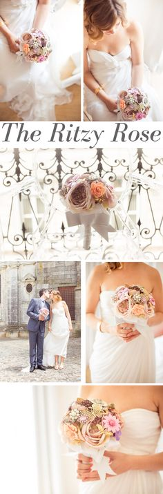 Stunning Portuguese bride carrying her romantic brooch bouquet by The Ritzy Rose. Photos by Instante Fotografia #WeddingTrends2013