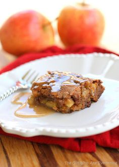 Apple Pudding Cake with Cinnamon Butter Sauce !