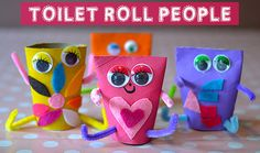 Toilet Roll Men #craft #kids