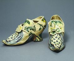 Brocaded silk shoes
