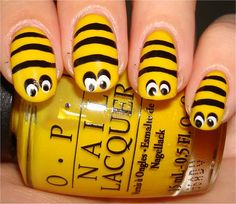 Bee Nails .... buzzzz .... Perfect for my Halloween costume this year! ;) Lol!
