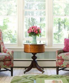 Pink and Green with a neutral base. Soft, fresh and feminine. Photo: Steven Randazzo