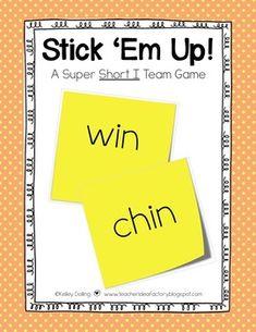 Stick 'Em Up - Short I Team Game {Freebie}