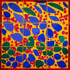This is a full size maquette for a stained glass window Matisse designed 1952 on commission for the widow of a rich art collector's mausoleum.  She rejected it - much to the chagrin of Matisse.  She later donated the paper maquette to the DMA who is currently displaying it in the Concourse.