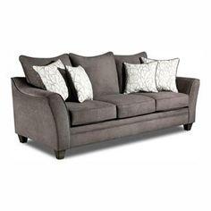 Stationary Sofa in Flannel Seal | Nebraska Furniture Mart