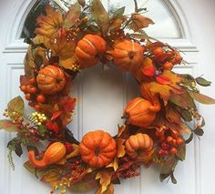 Thanksgiving Bounty Fall Door Wreath Wreaths For Door http://www.amazon.com/dp/B00NH16ZLW/ref=cm_sw_r_pi_dp_VFSgub0ZKB7EB