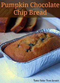 Tastes Better From Scratch: Pumpkin Chocolate Chip Bread