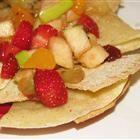 Fruit Salsa and cinnamon chips  a pampered chef recipe
