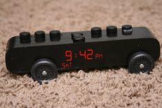 alarm clock Pinewood Derby Car