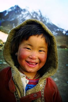 A happy Sherpa girl from Nepal