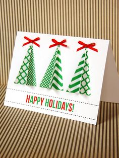 Handmade Christmas Tree Card