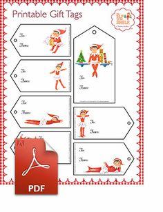 Printable Gift Tags | #Elf On The Shelf