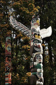 Totem poles..childhood favorite (Vancouver)