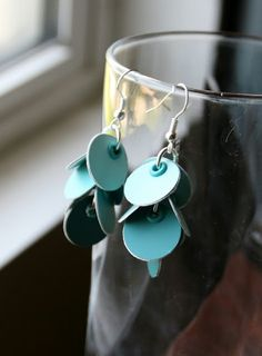 Copper Diem: Paint Chip Earrings Tutorial