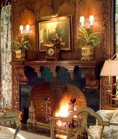 Gothic Fireplace   \