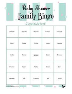 Baby Shower Family Bingo famili bingo, printabl babi, printabl game, baby shower games, babyshower games with kids, shower famili, babi shower, parti, baby showers