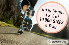 Easy Ways to Get 10,000 Steps Per Day | via @SparkPeople #fitness #exercise #walk