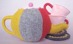 Recycled sweaters & felt tea set