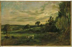 Summer Evening: View near East Bergholt Showing Langham Church, Stratford Church and Stoke-by-Nayland Church, John Constable, about 1806. For more information on Constable Country visit www.visitsuffolk.com