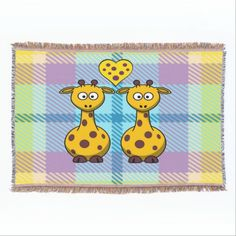 #Zazzle - Giraffes in Love Throw Blanket by elenaind (Elena Indolfi)