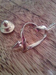 Vintage AVON Heart w/Arrow Pin