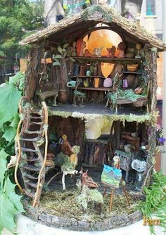 Multi-level fairy house!  Perfect for all sorts of rearranging!