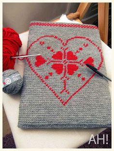 laptop case crocheted jacquard