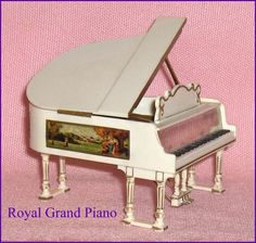 Royal Grand Piano  Petite Princess Dollhouse Furniture Ideal
