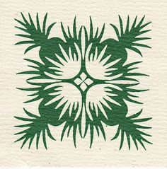 I love the green in this Hawaiian quilt.