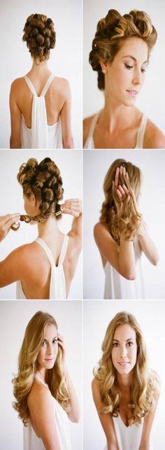 Ondas bohemias, consigue este peinado sin usar calor, encuentra esta y otras opciones para ondular tu cabello, sin maltratarlo...http://www.1001consejos.com/ondas-sin-calor/