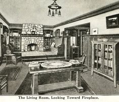 Interior View of Sears Ashmore Living Room