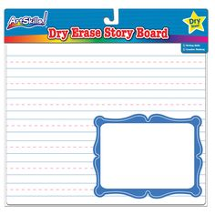 Use this Dry Erase Story Board to help your children not only practice their writing skills but also boost their creative thinking! Draw a picture in the frame and write a story to go with it!   Available Exclusively at Dollar General for just $1