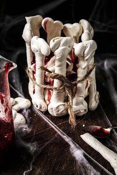 halloween meringue bones pavlova with raspberry blood