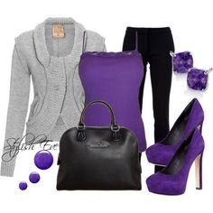 Fall Outfits for Women 2013 | Purple-Winter-2013-Outfits-for-Women-by-Stylish-Eve_17